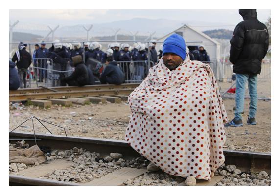 Iraner an der Grenze zu Mazedonien