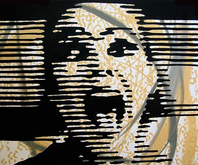 Kopf mit Wicklung Öl auf LW 100x120cm 2004