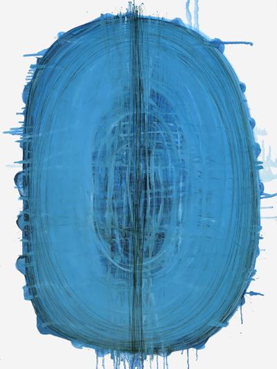 Cyanobakterie 80x60cm Öl und Acryl LW