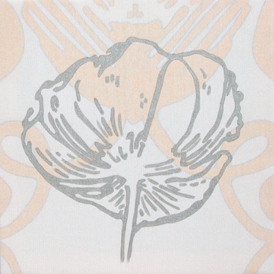 Blütenkopf Acryl auf Papiergewebe 50x50cm 2008