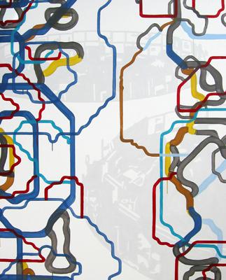 Börse Frankfurt Acryl LW 150x120cm 2009