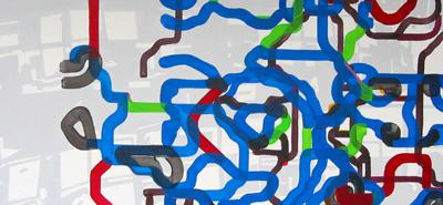 Börse Frankfurt Acryl LW 50x150cm 2009