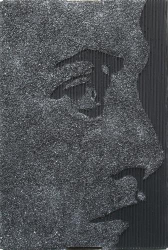 Kopfwerk Kohle Acryl Kartonage 59x39x10cm 2012