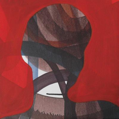 Kopf mit Wicklung Acryl LW 30x30x8cm 2012