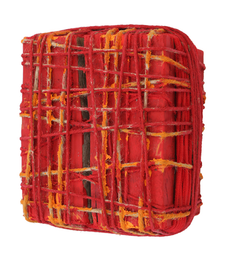 Red cube 26x22x19cm