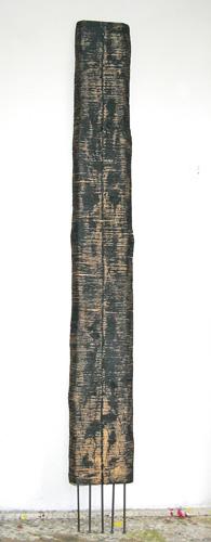 Wicklung Stele Seil Acryl 220x28cm 1997
